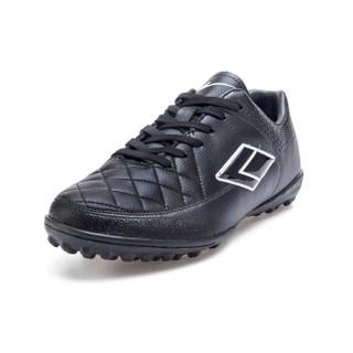 Double Star 双星 656011 男士碎钉足球鞋 (黑/白、43)