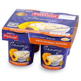 西班牙进口   帕斯卡 Pascual 帕斯卡杏子和芒果味巴氏热处理全脂风味酸奶4*125g