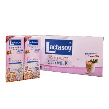 力大狮 泰国进口 Lactasoy 调制豆奶 低糖 250ml*12盒