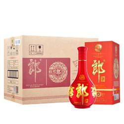 郎酒 红花郎(10)陈酿 53度 整箱装 白酒 558ml*6瓶(箱内有礼品袋3只)酱香型