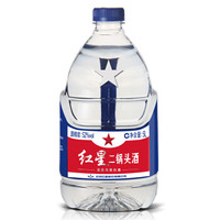 红星 白酒 二锅头 清香风格 52度 5L 桶装 *5件