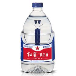 红星 白酒 二锅头 清香风格 52度 5L 桶装 *4件