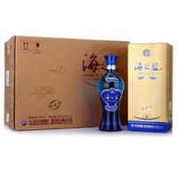 YANGHE 洋河 海之蓝 白酒 (箱装、浓香型、42度、375ml*6瓶)