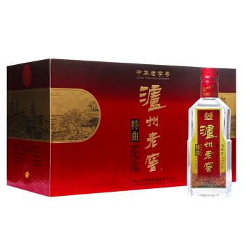 泸州老窖 特曲 52度 三两三 浓香型高度白酒 165ml*6瓶(2018版) 礼盒装