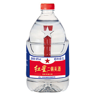 红星 白酒 二锅头 清香风格 60度 5L 桶装 高度白酒(新老包装随机发货)