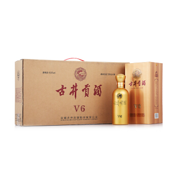 古井贡酒 v6  40.6度 500ml*4瓶  整箱装白酒 口感浓香型