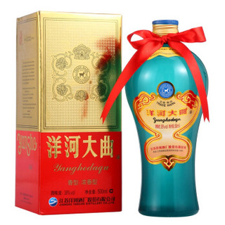 洋河(YangHe)洋河大曲 38度单瓶盒装白酒500ml 绵柔浓香型(新老包装随机发货) *9件