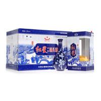 红星 白酒 珍品 蓝花瓷 二锅头 清香型 52度 500ml*6瓶 整箱装