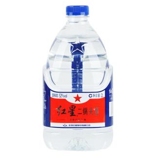 红星 白酒 二锅头 清香风格 52度 2L 桶装 高度白酒 高度酒(新老包装随机发货) *6件