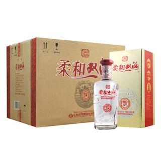 苏宁SUPER会员 : 柔和双沟 银装42度450ml*6瓶 整箱装 浓香型 白酒