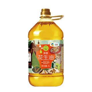 中粮 初萃(CHUCUI) 压榨一级原香花生油5L 传统烤香 物理压榨 桶装粮油 食用油 *2件