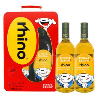 犀牛压榨特级初榨橄榄油 1L*2礼盒