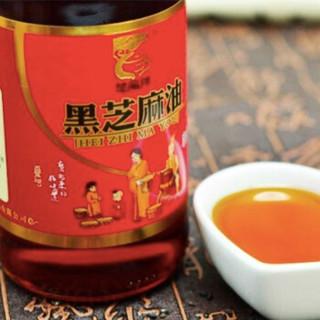 楚龍翔 月子油 香油 烹饪火锅调味 调料调味品 纯黑芝麻油380ml