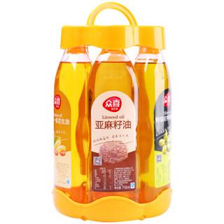 众喜 物理压榨食用油 花生油 同享组合油套装750ml*6