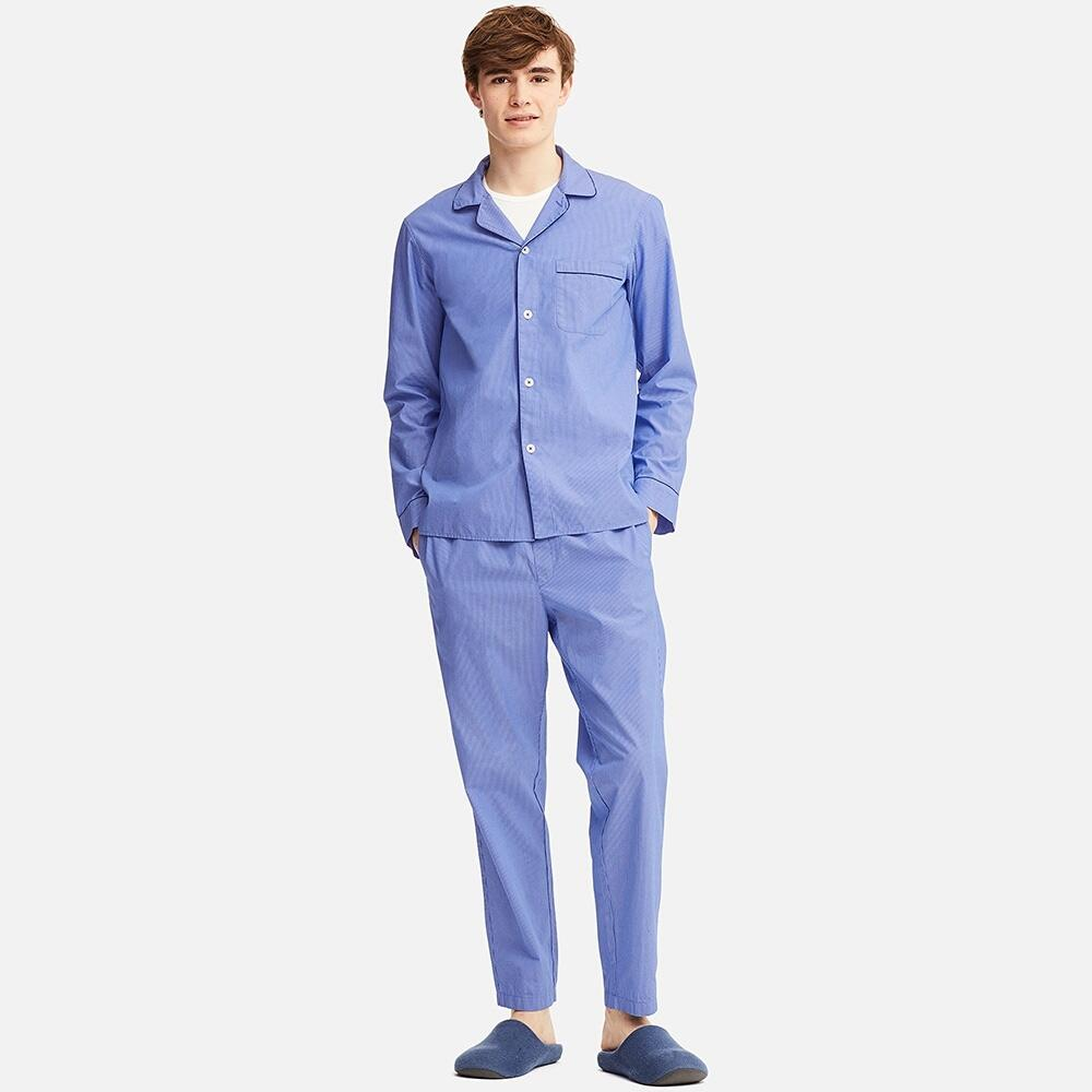 UNIQLO 优衣库 412630 男士长袖睡衣套装