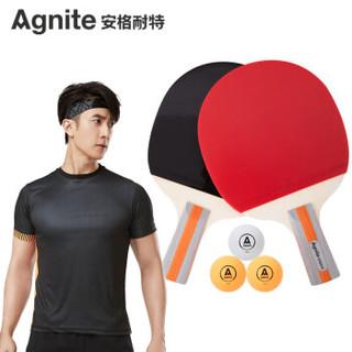 Agnite 安格耐特 安格耐特(Agnite)直拍2拍3球乒乓球拍 F2320 红色/黑色 对拍套装