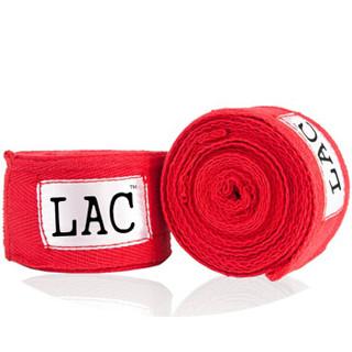 LAC拳击绷带 散打绷带 棉质泰拳绷带缠手带绑手带 吸汗绷带 黑色3米2只装
