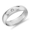 Blue Nile 铂金 单钻内圈圆弧设计结婚戒指 1168.31美元(约7793元,需用码,返200元京东E卡)