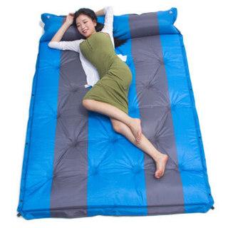 狼行者 自动充气垫防潮垫气垫床加宽加厚充气垫帐篷防潮垫 充气床 蓝色