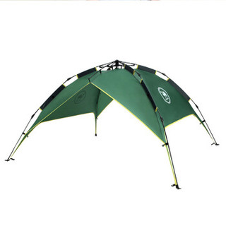骆驼牌 户外双人帐篷3-4人全自动速开双层帐篷双门通风 P5W3H8701  绿色
