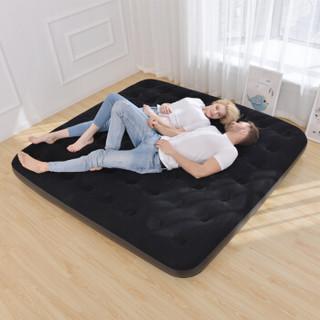 吉龙 充气床垫 露营气垫床 折叠床 黑色植绒气泵床 双人加宽款 203*183*22CM