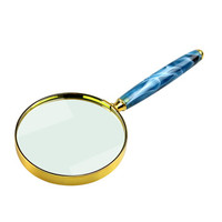 MIXOUT米欧特手持式高清放大镜 读书看报阅读鉴赏 金边蓝纹礼品放大镜MX-Y80