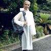 博沃尼克 半透明磨砂成人雨衣雨披 男女士长款带帽 非一次性雨衣 BY-01白色