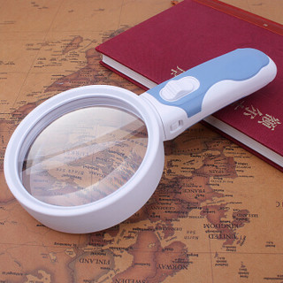 MIXOUT米欧特 手持高清阅读放大镜 5倍90mm大口径视野清晰带LED灯