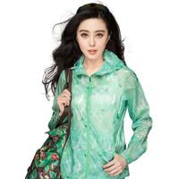 CAMEL 骆驼(中国)户外用品有限公司 女防晒衣 (粉绿花、A6S130126)