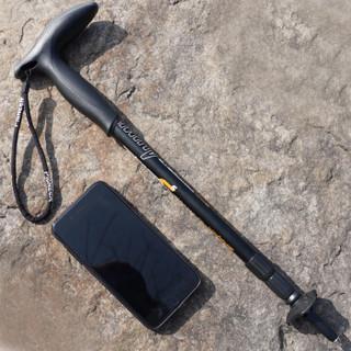开拓者(PIONEER)狼牙5系 户外登山杖手杖健走杖 拐杖铝合金超短三节伸缩便携徒步老人杖 T型黑色