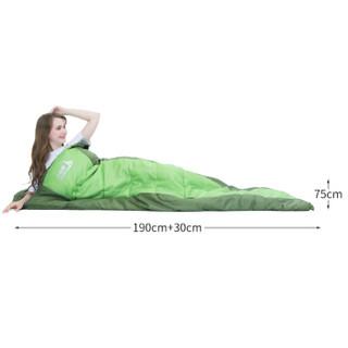 北极狼 BeiJiLang 睡袋成人户外旅行冬季四季保暖室内露营双人隔脏棉睡袋1.8KG 军绿拼接