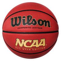 威尔胜 Wilson美国校园篮球金色NCAA比赛训练室内室外PU皮标准7号篮球