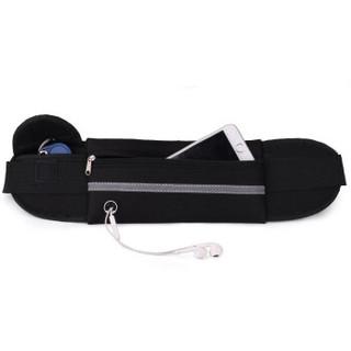 加加林 运动腰包多功能跑步手机包男女健身户外水壶包隐形贴身休闲小腰包 黑色