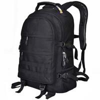 力开力朗(LOCAL LION) 登山包背包 军迷系列背包双肩包 耐磨面料钢丝手提 BH507黑色 30L