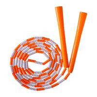 普为特POVIT 儿童竹节跳绳成人健身减肥中小学生考试专用可调节花样跳绳幼儿园训练珠节绳 P-1262(橙白)
