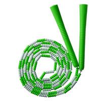 普为特POVIT 儿童竹节跳绳成人健身减肥中小学生考试专用可调节花样跳绳幼儿园训练珠节绳 P-1264(绿白)