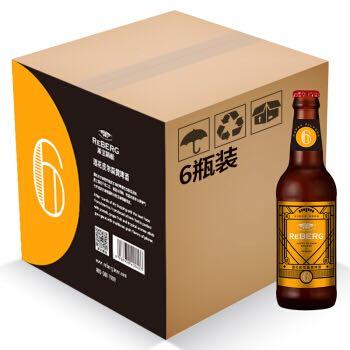 Reberg Beer 莱宝鲜啤 精酿佐餐酒系列 6号皮尔森黄啤酒 330ml*6瓶装  *3件