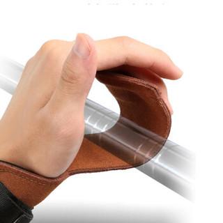 LAC助力带护掌健身手套硬拉握力带引体向上防滑哑铃训练护具 均码【加厚防滑】 助力带【2只装】
