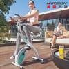 美国HARISON 汉臣动感单车家用静音健身车全折叠室内脚踏自行车 减肥健身器材 SHAPP X3(粉绿)