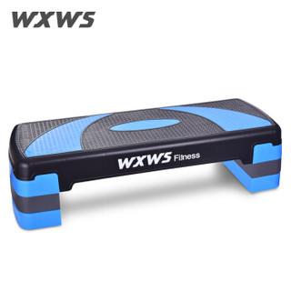 我形我塑 WXWS 健身踏板男女健身器材家用运动踏板有氧操减肥器拉筋板凳 78cm蓝黑色