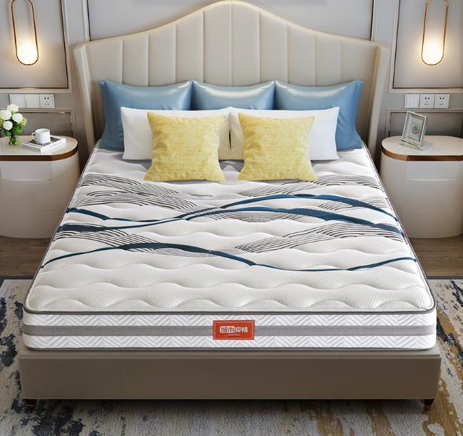 喜临门床垫 泰国进口乳胶床垫 天丝面料弹簧床垫 软硬两用主卧床垫 双人床垫 时光1800*2000
