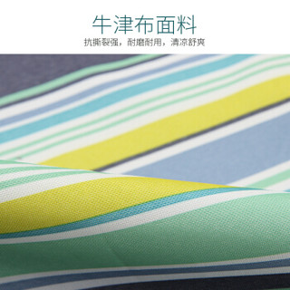 喜马拉雅牛津布野餐垫 可清洗户外春游便携帐篷垫子 家庭休闲防潮地垫草坪沙滩垫  蓝条纹200*200