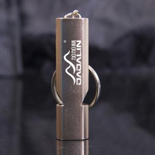 JAJALIN 加加林 铝合金双频求生口哨 双管户外生存救生哨子装备 口哨金色