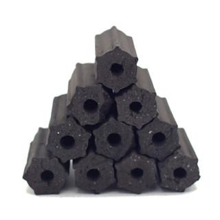 尚龙烧烤木炭 条形空心成型果木炭 机制环保易燃木碳 6斤装含引火块及手套 火锅露营燃料