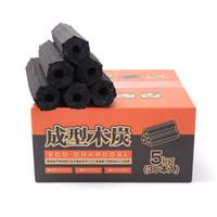 尚龙烧烤炭 机制果木碳环保无烟 空心条形炭烧烤燃料 易燃家用露营火锅 10斤