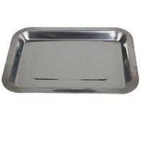 红色营地 不锈钢方盘长方形托盘 烧烤食物盘子菜盘餐盘饺子盘水果盘 烧烤工具配件