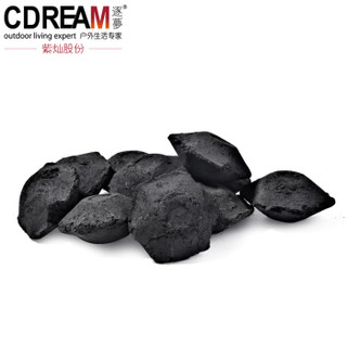 逐梦 CDREAM 烧烤炭3kg 易燃持久耐烧木炭6斤户外便携野炊燃料用品内赠一次性手套2副
