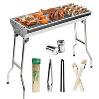 悠乐朋 Ulecamp大号烧烤架 不锈钢烧烤炉子 户外便携式炭烤炉+6配件