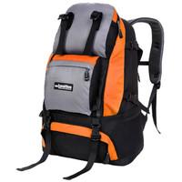力开力朗(LOCAL LION)062 户外休闲多功能双肩背包登山包旅行包062橙色 45L
