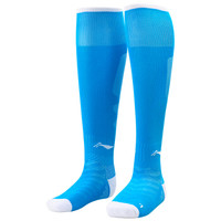 LI-NING 李宁 AWLL099-8 长筒足球袜 (新疆蓝、XS )